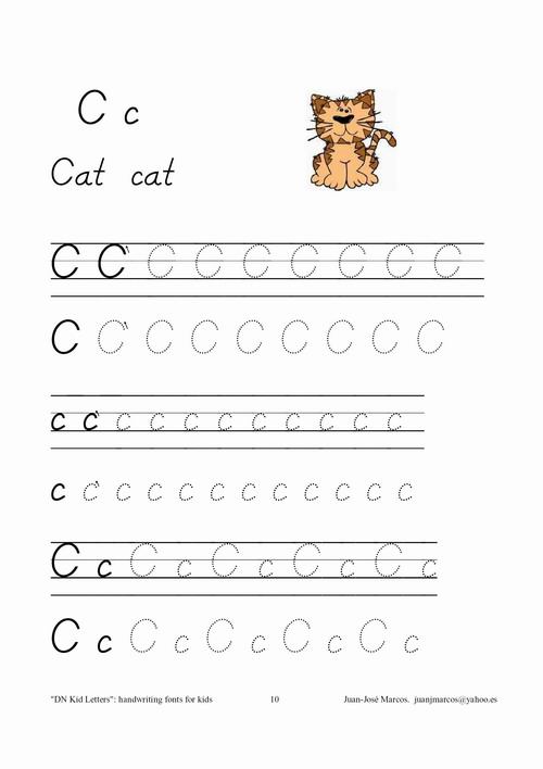 Handwriting fonts for teaching children to write  D'Nealian