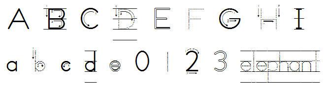 Zaner Bloser fonts for teaching children to write  ZB School fonts