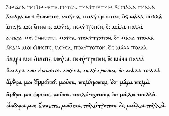 PALEOGRAPHIC FONTS  Fonts for Greek paleography