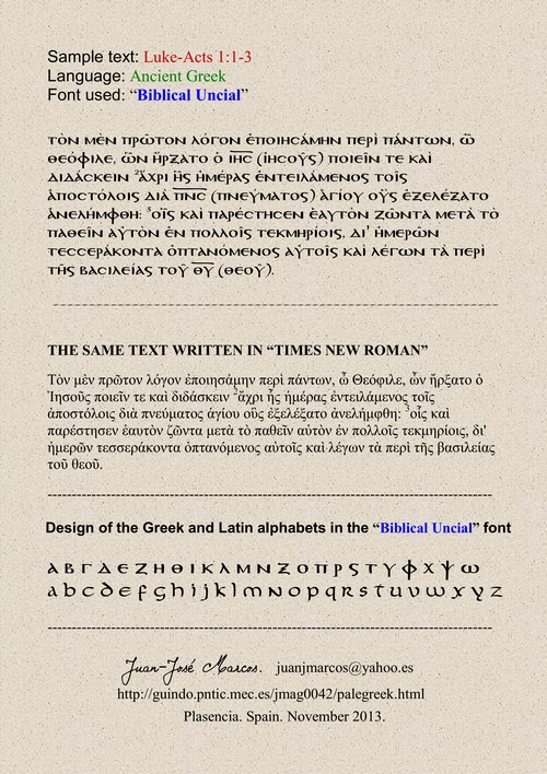 PALEOGRAPHIC FONTS  Fonts for Greek paleography